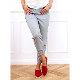 High-soled loafers red 5836 Red 3