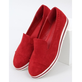 High-soled loafers red 5836 Red 1