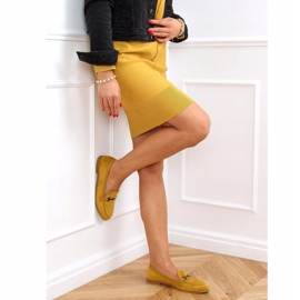 Women's loafers mustard 8742 Yellow 3