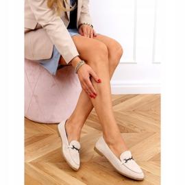 Women's beige loafers 8742 Beige 3