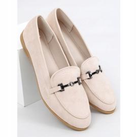 Women's beige loafers 8742 Beige 1