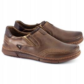 Polbut Men's slip-on shoes J51 brown 1
