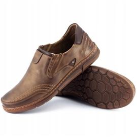 Polbut Men's slip-on shoes J51 brown 2