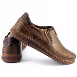 Polbut Men's slip-on shoes J51 brown 3