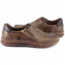 Polbut Men's slip-on shoes J51 brown 4