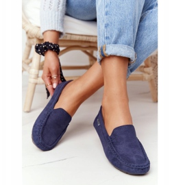 PH1 Women's Suede Loafers Navy Blue San Marino 3