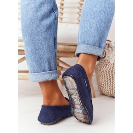 PH1 Women's Suede Loafers Navy Blue San Marino 4