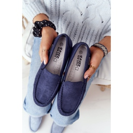PH1 Women's Suede Loafers Navy Blue San Marino 1