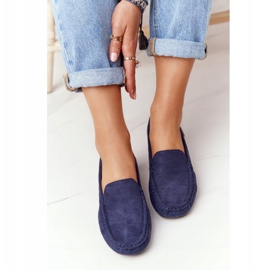 PH1 Women's Suede Loafers Navy Blue San Marino 2