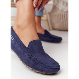 PH1 Women's Suede Loafers Navy Blue San Marino 6