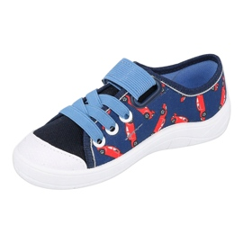 Befado sneakers children's shoes 251X160 red navy blue 4