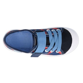 Befado sneakers children's shoes 251X160 red navy blue 2