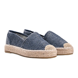 Carly blue woven espadrilles 1