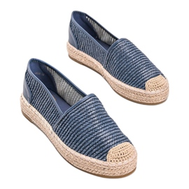Carly blue woven espadrilles 2