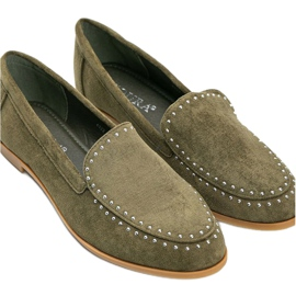 Green loafers made of eco-suede from Hope 2