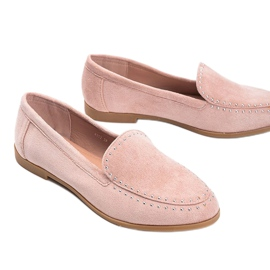 Pink eco-suede loafers from Hope 1