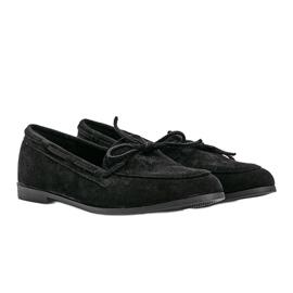 Black Kierra eco-suede loafers 1