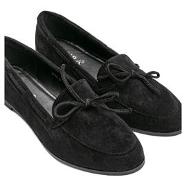 Black Kierra eco-suede loafers 2