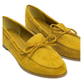 Mustard loafers made of Kierra eco-suede yellow 2