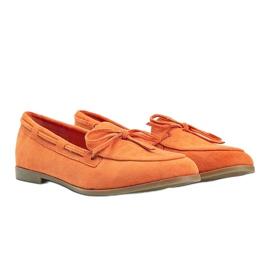 Orange moccasins made of Kierra eco-suede 2