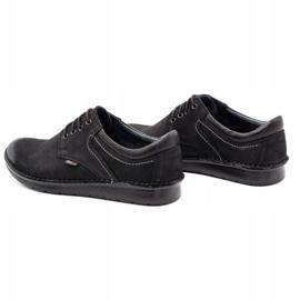 Kampol Casual men's shoes 11/3 black nubuck 8