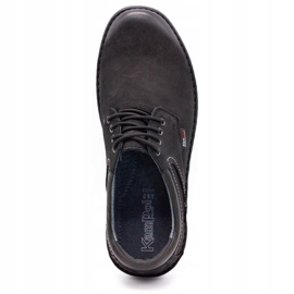 Kampol Casual men's shoes 11/3 black nubuck 9