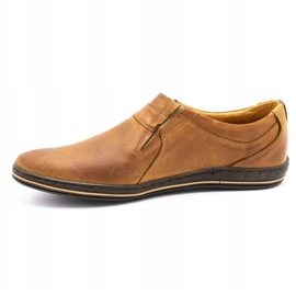 Polbut Men's shoes Leather 362 Camel brown 3