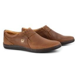 Polbut Men's shoes Leather 362 Camel brown 5