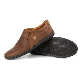 Polbut Men's shoes Leather 362 Camel brown 6