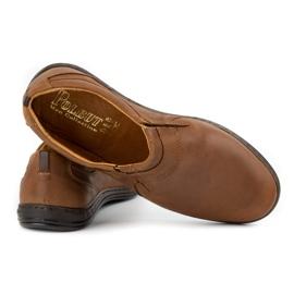 Polbut Men's shoes Leather 362 Camel brown 7