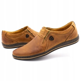 Polbut Men's shoes Leather 362 Camel brown 8
