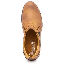 Polbut Men's shoes Leather 362 Camel brown 10