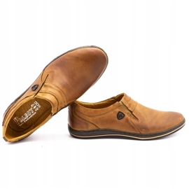 Polbut Men's shoes Leather 362 Camel brown 2
