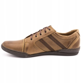 Polbut Casual men's shoes R3 Perforation Brown 1