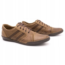 Polbut Casual men's shoes R3 Perforation Brown 2