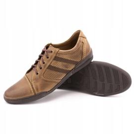 Polbut Casual men's shoes R3 Perforation Brown 3