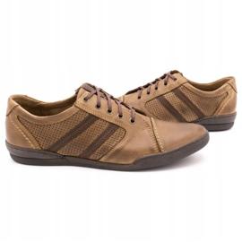 Polbut Casual men's shoes R3 Perforation Brown 5