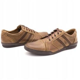Polbut Casual men's shoes R3 Perforation Brown 6