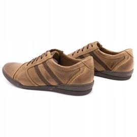 Polbut Casual men's shoes R3 Perforation Brown 7
