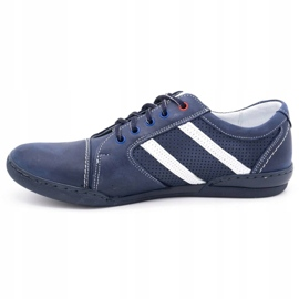 Polbut Men's casual shoes R3 Perforation Navy blue with white multicolored 1