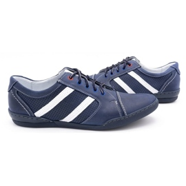 Polbut Men's casual shoes R3 Perforation Navy blue with white multicolored 5