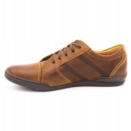 Polbut Casual men's shoes R3 Perforation Camel brown 1