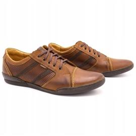 Polbut Casual men's shoes R3 Perforation Camel brown 2