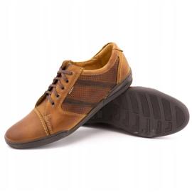Polbut Casual men's shoes R3 Perforation Camel brown 3