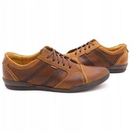 Polbut Casual men's shoes R3 Perforation Camel brown 5