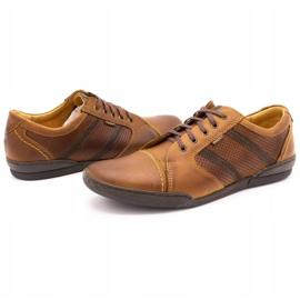 Polbut Casual men's shoes R3 Perforation Camel brown 6