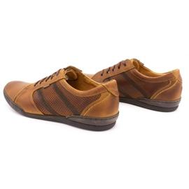 Polbut Casual men's shoes R3 Perforation Camel brown 7