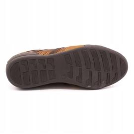Polbut Casual men's shoes R3 Perforation Camel brown 8