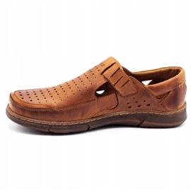 Polbut Men's summer openwork shoes J73L camel brown 1