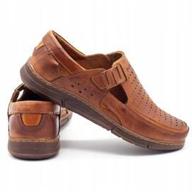 Polbut Men's summer openwork shoes J73L camel brown 5
